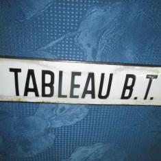 TABLEAU B.T. Reclama veche franceza pe tabla emailata.