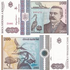 ROMANIA 200 lei 1992 UNC!!! - Bancnota romaneasca