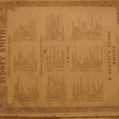 Partitura muzicala, Sydney Smith, serenade de Gounod, pian la doua maini