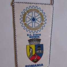 FANION-BISTRITA-ROTARY CLUB-INTERNATIONAL - Fanion fotbal