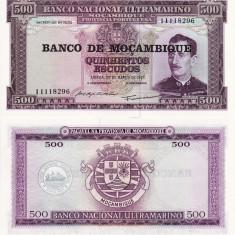MOZAMBIC 500 escudos 1967 UNC!!! - bancnota africa