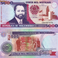 MOZAMBIC 5.000 meticais 1991 UNC!!! - bancnota africa