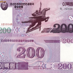 COREEA DE NORD 200 won 2008 UNC!!! - bancnota asia