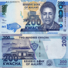 MALAWI 200 kwacha 2012 UNC!!! - bancnota africa