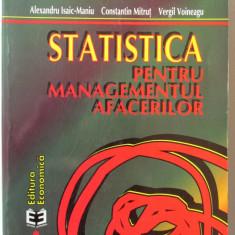 STATISTICA PENTRU MANAGEMENTUL AFACERILOR, Ed.II rev., Alex. Isaic-Maniu s.a.