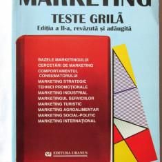 """MARKETING. TESTE GRILA"", Ed. II rev., Coord. V. Balaure, 2000. 1712 intrebari - Curs marketing"