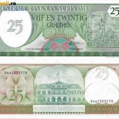 SURINAME 25 gulden 1985 UNC!!! - bancnota america