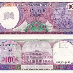 SURINAME 100 gulden 1985 UNC!!! - bancnota america