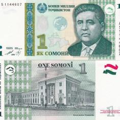 TADJIKISTAN 1 somoni 1999 UNC!!! - bancnota asia