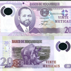MOZAMBIC- 20 METICAIS 2011- P 149- POLYMER- UNC!! - bancnota africa