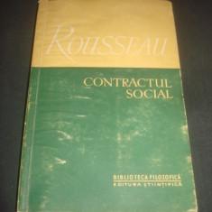 J. J. ROUSSEAU - CONTRACTUL SOCIAL  {1957}
