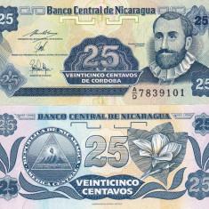 NICARAGUA 25 centavos 1991 UNC!!! - bancnota america