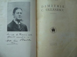 N. Petrascu , D. C. Ollanescu ( Ascanio ) , Editura Cultura Nationala , 1926 , prima editie