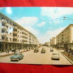 Ilustrata Bacau - Calea Marasesti, circ. 1969 - Carte Postala Moldova dupa 1918