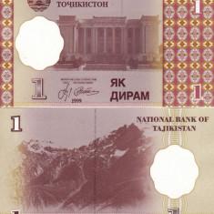 TADJIKISTAN 1 diram 1999 UNC!!! - bancnota asia