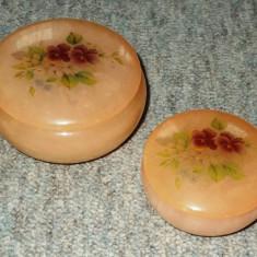 Cutie bijuterii / Cutie cosmetice - Alabastru / onix - lucrata manual - Italia