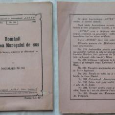 Nicolae Albu, Romanii din valea Muresului, 1943, prima editie - Carte Editie princeps