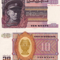 BURMA 10 kyats 1973 UNC!!!