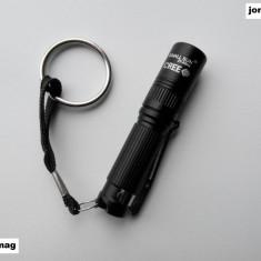 Lanterna Breloc Puternica marca SMALL SUN R804 cu Led CREE R2 Nou - Breloc Barbati