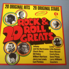 20 ROCK & ROLL GREATS - SELECTIE ROCK -DISC VINIL/PICK-UP - (1974/RCA REC/RFG) - Muzica Rock ariola