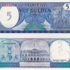 SURINAME 5 gulden 1982 UNC!!! - bancnota america