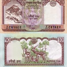 NEPAL 10 rupees ND 2010 UNC!!! - bancnota asia