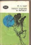 (C5543) VERSURI ORIGINALE SI TALMACIRI DE ST.O. IOSIF, EDITURA PENTRU LITERATURA, 1965, PREFATA DE ION ROMAN, Alta editura, St. O. Iosif