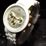 Ceas dama MICHAEL KORS 5076 white-silicon, Otel, Analog