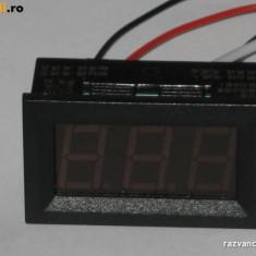 Ampermetru digital 0 - 9,99A, c.c. cod:10100130