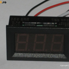 Ampermetru digital 0 - 9, 99A, c.c.