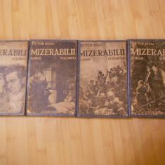 VICTOR HUGO--MIZERABILII - 4 VOL. - INTERBELICA - Carte veche