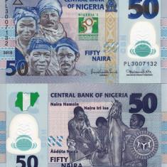 NIGERIA 50 naira 2010 polymer COMEMORATIVA UNC!!! - bancnota africa