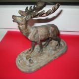 Cerb statuieta veche din bronz.