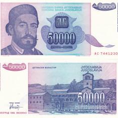 IUGOSLAVIA 50.000 dinara 1993 UNC!!! - bancnota europa