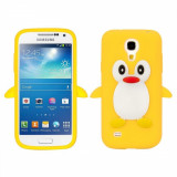 Husa silicon Samsung Galaxy S4 mini Yellow PINGUIN GALBEN + folie protectie