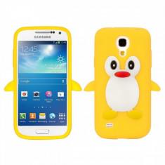 Husa silicon Samsung Galaxy S4 mini Yellow PINGUIN GALBEN + folie protectie - Husa Telefon Samsung, Carcasa