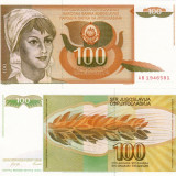IUGOSLAVIA 100 dinara 1990 UNC!!! - bancnota europa