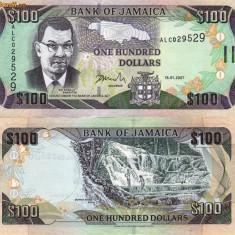 JAMAICA 100 dollars 2007 UNC!!!