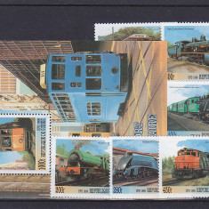 Transporturi locomotive Cuba. - Timbre straine