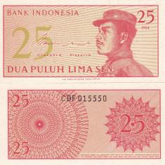 INDONEZIA 25 sen 1964 UNC!!! - bancnota asia