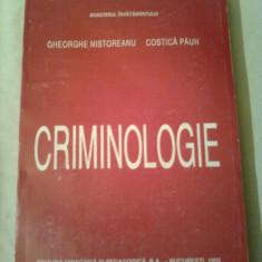 CRIMINOLOGIE ~ GHEORGHE NISTOREANU / COSTICA PAUN - Carte Criminologie