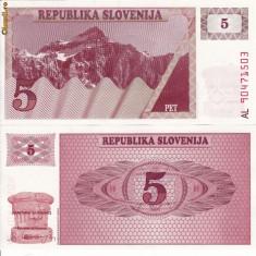 SLOVENIA 5 tolar 1990 UNC!!!
