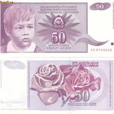 IUGOSLAVIA 50 dinara 1990 UNC!!! - bancnota europa