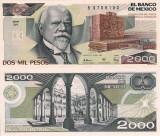 MEXIC 2.000 pesos 1989 UNC!!!