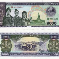 LAOS 1.000 kip 2003 UNC!!! - bancnota asia