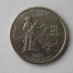 QUARTER DOLLAR USA MASSACHUSETTS 2000