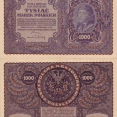 POLONIA 1.000 marek 1919 AUNC!!!