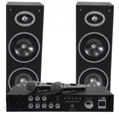 SET KARAOKE AMPLIFICATOR USB 2MIC+2 BOXE 6.5 - Mixere DJ