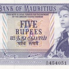 MAURITIUS 5 rupees 1967 AUNC!!!