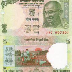 INDIA 5 rupees 2009 UNC!!! - bancnota asia